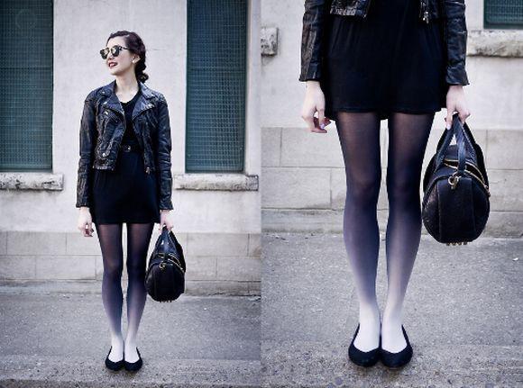 Meia-calça com ombré colorido para looks modernos