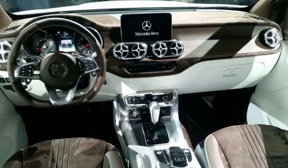 Interior luxuoso da Classe X (Foto: Divulgação Mercedes-Benz)