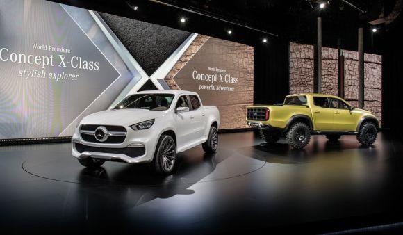 Apresentação oficial da Mercedes Concept X-Class (Foto: Divulgação Mercedes-Benz)