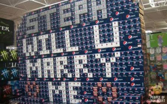 Pedido de casamento no supermercado (Foto: Reprodução)