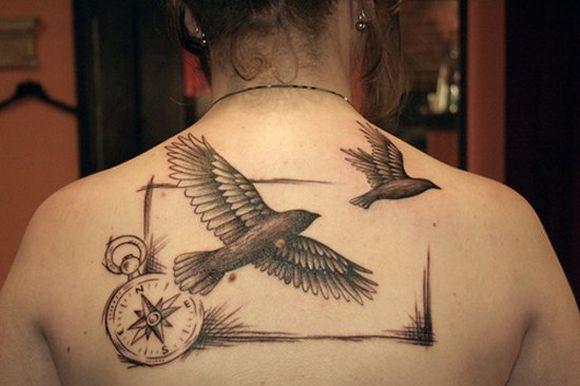 As tattoos de pássaros são adoradas pelas mulheres e pelos homens (Foto Ilustrativa)