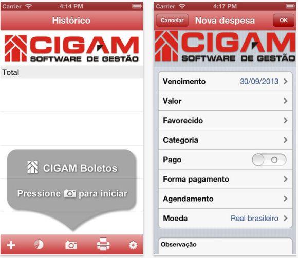 Gerencie o pagamento online de suas contas com esse app grátis (Foto: Reprodução Cigam Boletos)