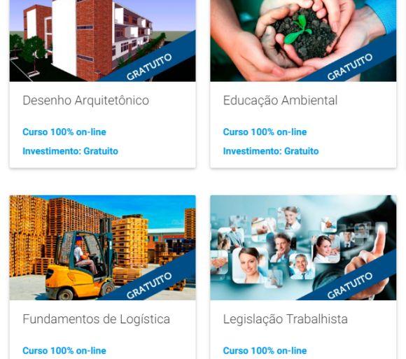 Há diversas opções de cursos online grátis (Foto: Reprodução Senai)
