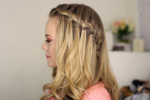 A trança cascata fica melhor nos cabelos mais lisos (Foto Ilustrativa)