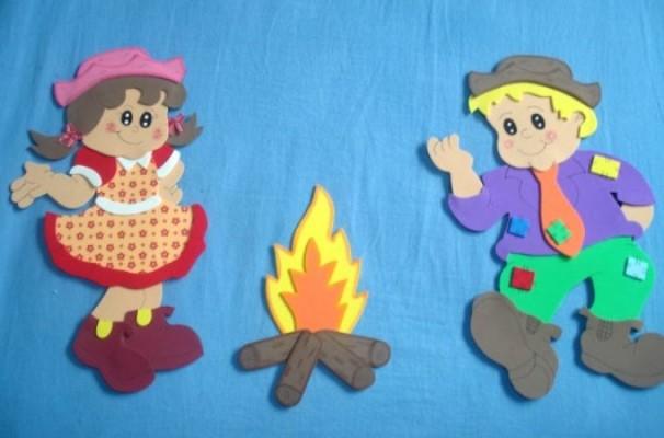 decoracao festa caipira:Decoração Em EVA Para Festa Junina. (Foto: Divulgação)