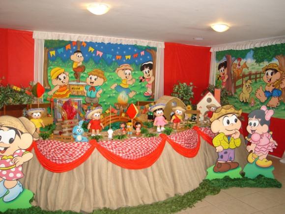 decoracao festa caipira:Painéis da Turma da Mônica. (Foto: Divulgação)