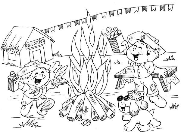 Figuras Festa Junina para Colorir