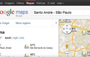 Google Maps Agora tem Previsão do Tempo