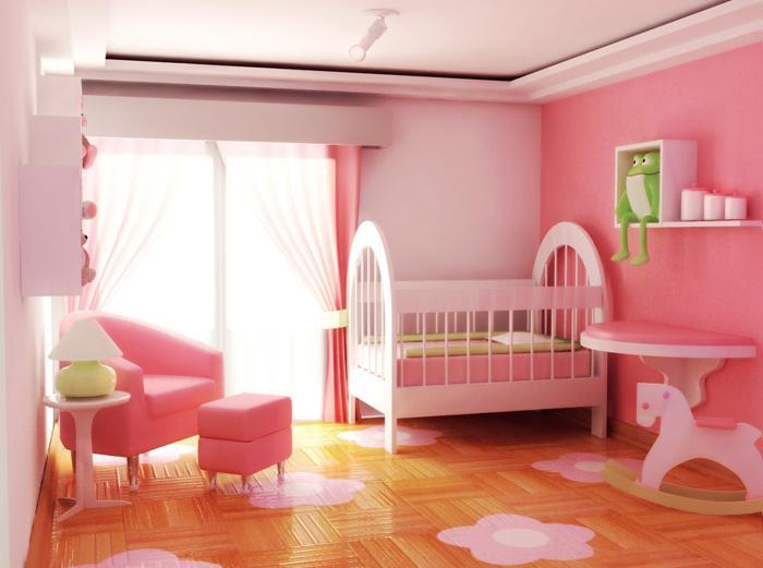 262751 Quarto de bebe decorado Tudo Rosa Decoração para quartos de bebê: veja fotos