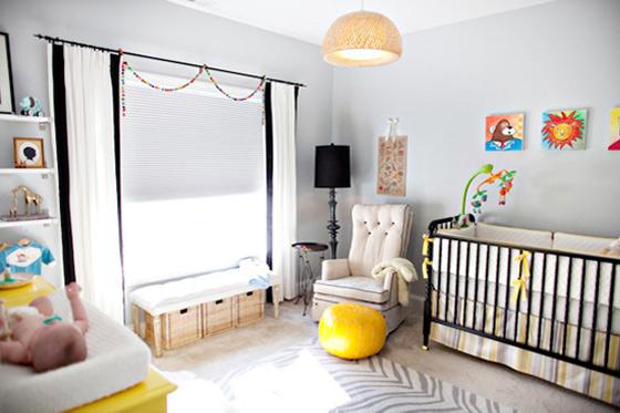 262751 quartinho cinza amarelo Decoração para quartos de bebê: veja fotos