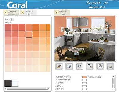 Conhe a simuladores de cores de tinta para ambiente - Pintar paredes simulador ...