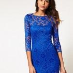 273641 Vestido de renda azul 150x150 Vestidos de Renda 2012   Fotos e Tendências