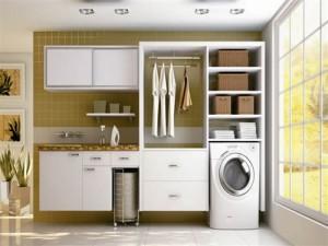 móvel planejado para lavanderia