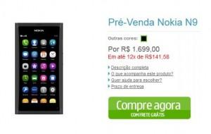 Nokia N9 já está em pré-venda no Brasil