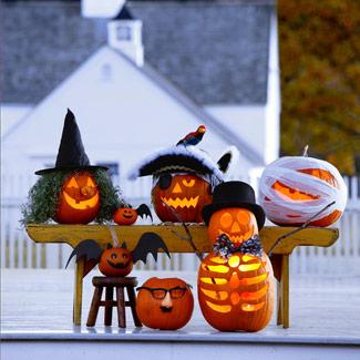 Ideias de artesanato para o dia das bruxas - Calabazas pintadas para halloween ...