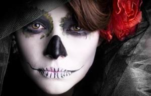Maquiagem macabra para o dia das bruxas, ideias