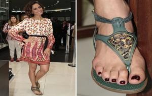 Coleção de sandálias da Camila Pitanga