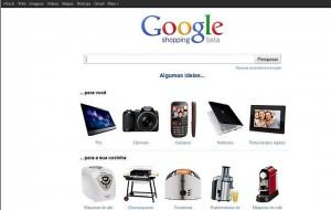 Site do Google Shopping Brasil