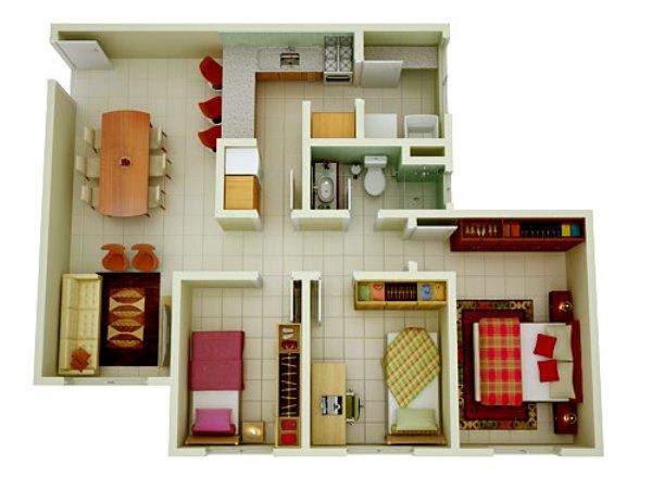 Plantas de casas gr tis mundodastribos todas as tribos for Casa moderna 90m2