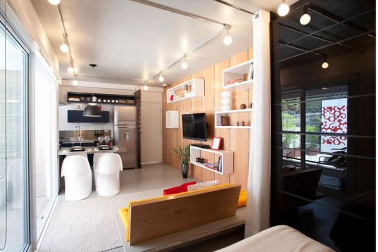 Decorar apartamentos pequenos for Como amueblar apartamento pequeno