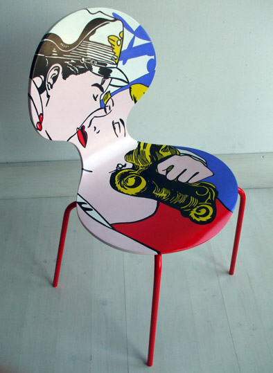 Cadeiras diferentes para decorar modelos for Muebles pop art