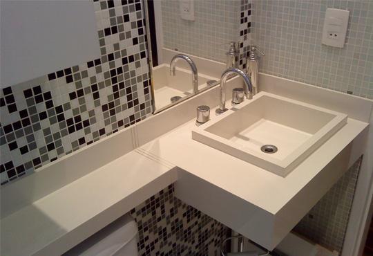 Casas decoradas com porcelanato dicas, fotos -> Banheiro Decorado Com Granito Preto
