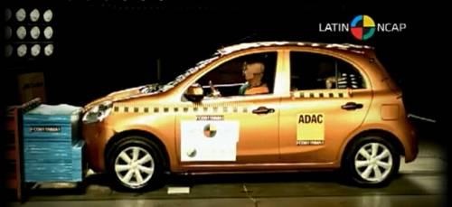Ford Ka e Nissan March são reprovados pela Latin NCAP