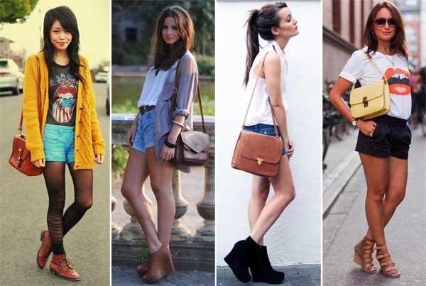 Fashionistas usando bolsa de ombro tendências de 2017.