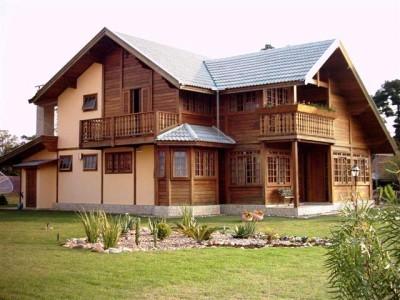 Fachadas de madeira para casas - Pinturas para casas de madera ...