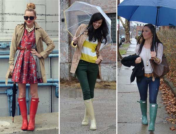 338994 colorida Galocha: Looks para os dias de chuva