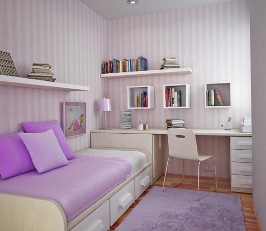 quarto menina roxo lilas branco 2 150x150 Decoração para quartos de