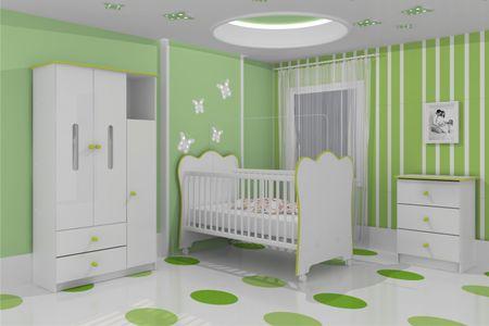 quarto de bebe decorado verde 2 150x150 Decoração para quartos de
