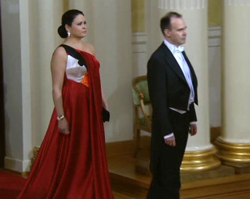 Executivo e sua esposa durante festa no Palácio Presidencial (Foto: Divulgação)