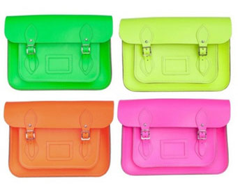 355643 neon 1 Cambridge Satchel Bag: A bolsa da vez