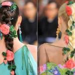 357237 MD Trança com flores 150x150 Penteados com tranças: fotos, modelos