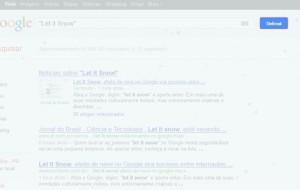 Google faz nevar na tela do seu computador