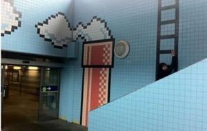 Decoração inspirada no Super Mario