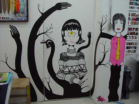 359434 como fazer desenhos na parede da sala 2 Como fazer desenhos na parede da sua sala