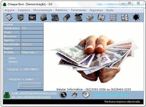 Consulta online e controle de cheques