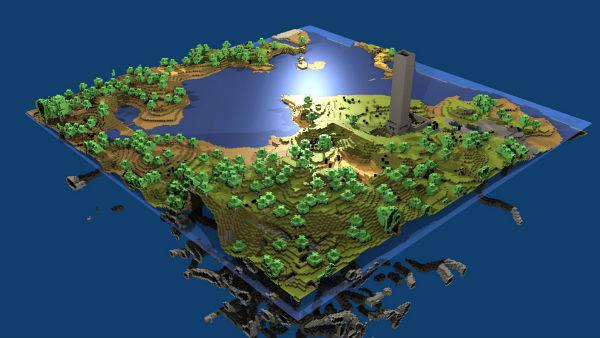 Minecraft possibilita construir mundos fantásticos, até mesmo pelo smartphone (Foto: Reprodução)