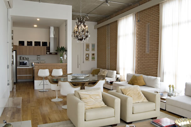 decoracao cozinha loft:falta de paredes pode trazer funcionalidade, mas é importante