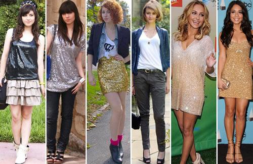 Peças com paetês, miçangas, brilhantes e cortes diferentes são a tendência para a moda jovem 2012 (Foto: Divulgação)