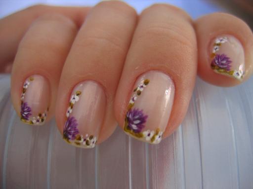 por manicure 150x150 Unhas decoradas com flores: fotos, como fazer
