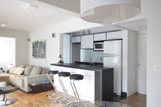Cozinha conjugada à sala – decoração, dicas, fotos
