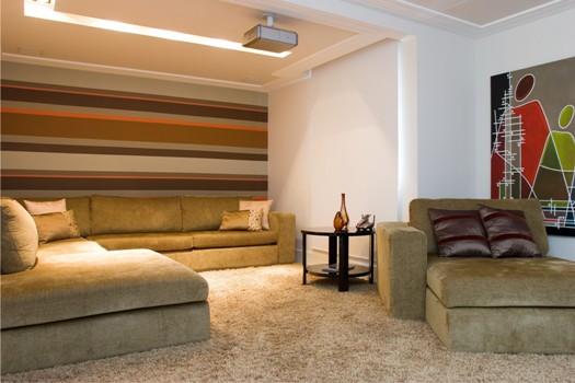 Sala De Tv Aconchegante ~ uma sala de tv moderna e totalmente clean a sala