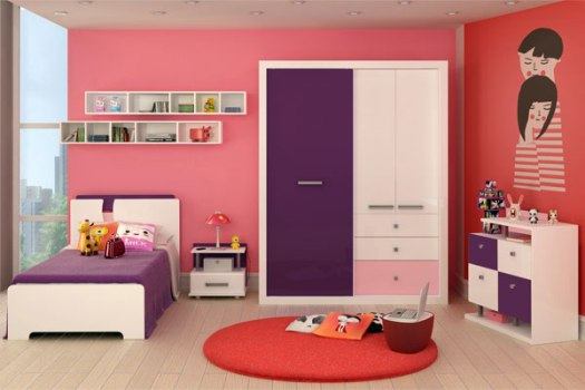 Quarto feminino decoração, ideias ~ Quarto Rosa Imagens