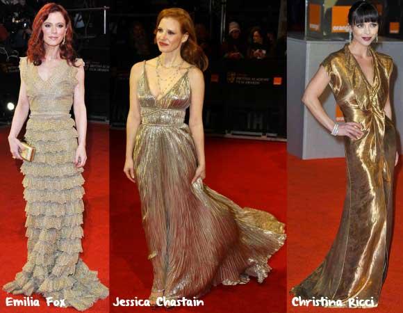 BAFTA 2012 - Looks Metálicos