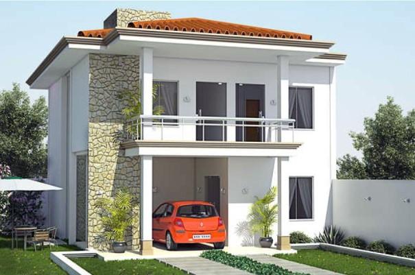 Planta de casas 2 pisos mundodastribos todas as tribos - Fachada de casas de dos plantas ...