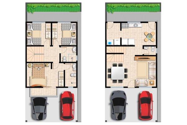 Planta de casas 2 pisos mundodastribos todas as tribos for Modelo de casa 3 pisos