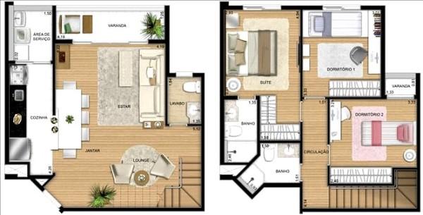 Planta de casas 2 pisos for Casa minimalista 100m2